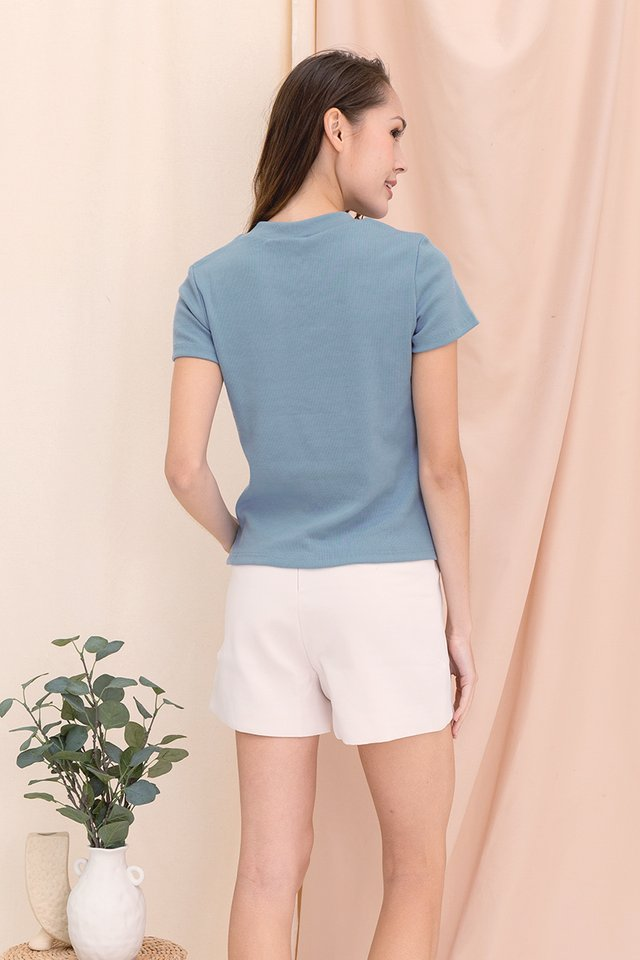 Belinda Basic Top (Ash Blue)