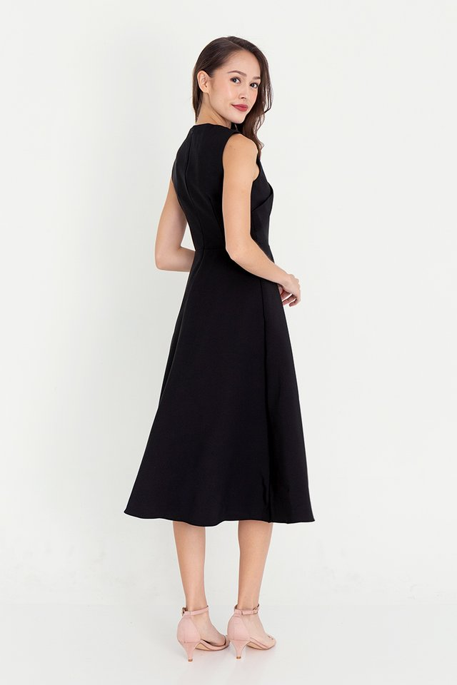 Juliet Midi Dress (Black)