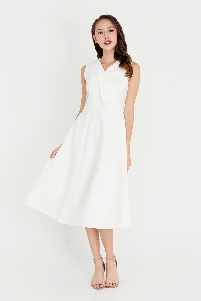 Juliet Midi Dress (White)