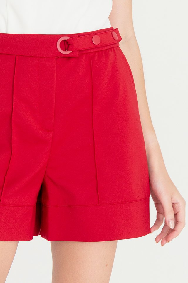 Jose High Waist Shorts (Red)