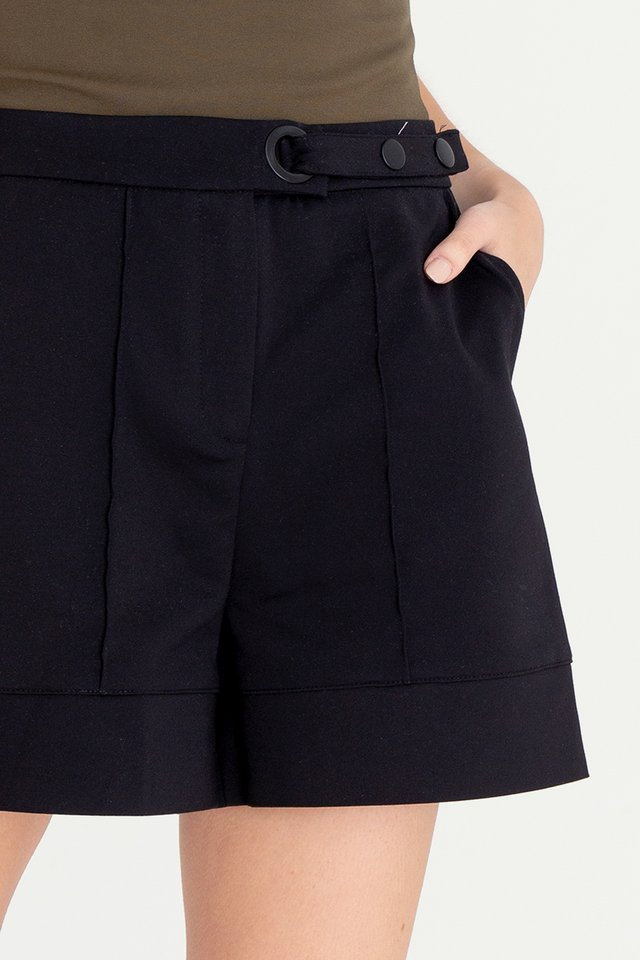 Jose High Waist Shorts (Black)