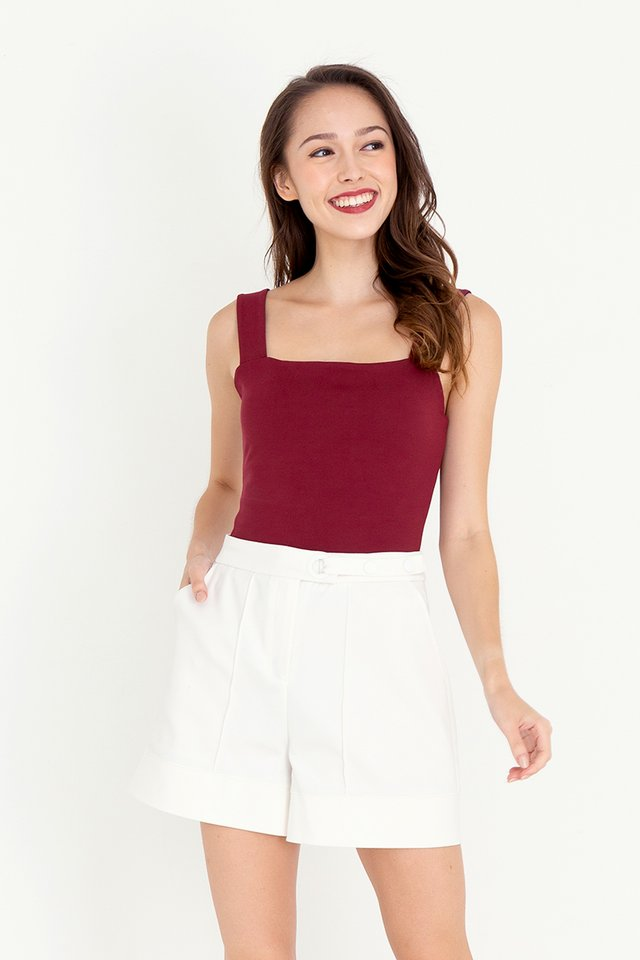Reine Reversible Crop Top (Navy/Wine)