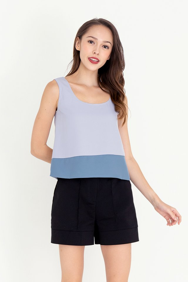 Herlina Two-Way Reversible Top (Blue)