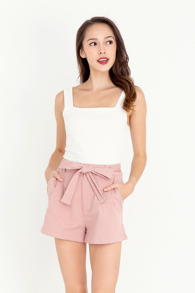 Denver Belted Denim Shorts (Pink)