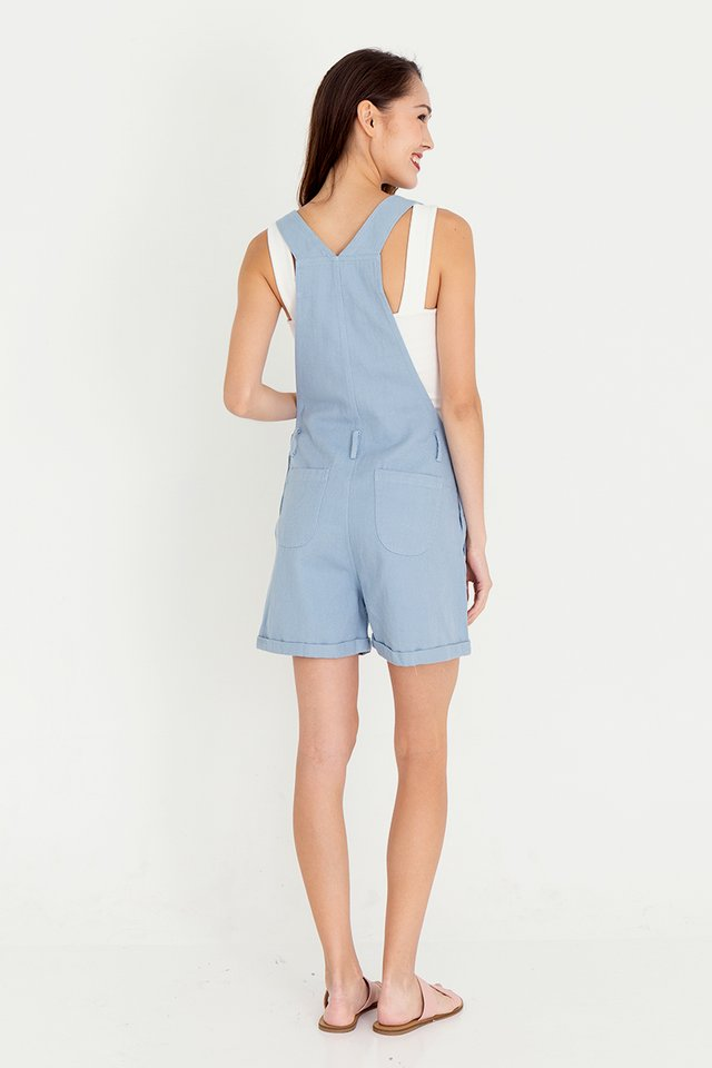 Daisee Dungaree Denim Playsuit (Sky Blue)