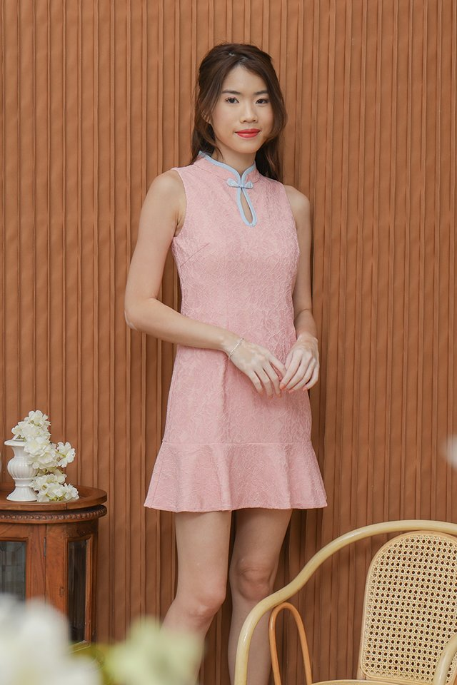 *IN STOCK* Sonia Keyhole Lace Playsuit (Pink)