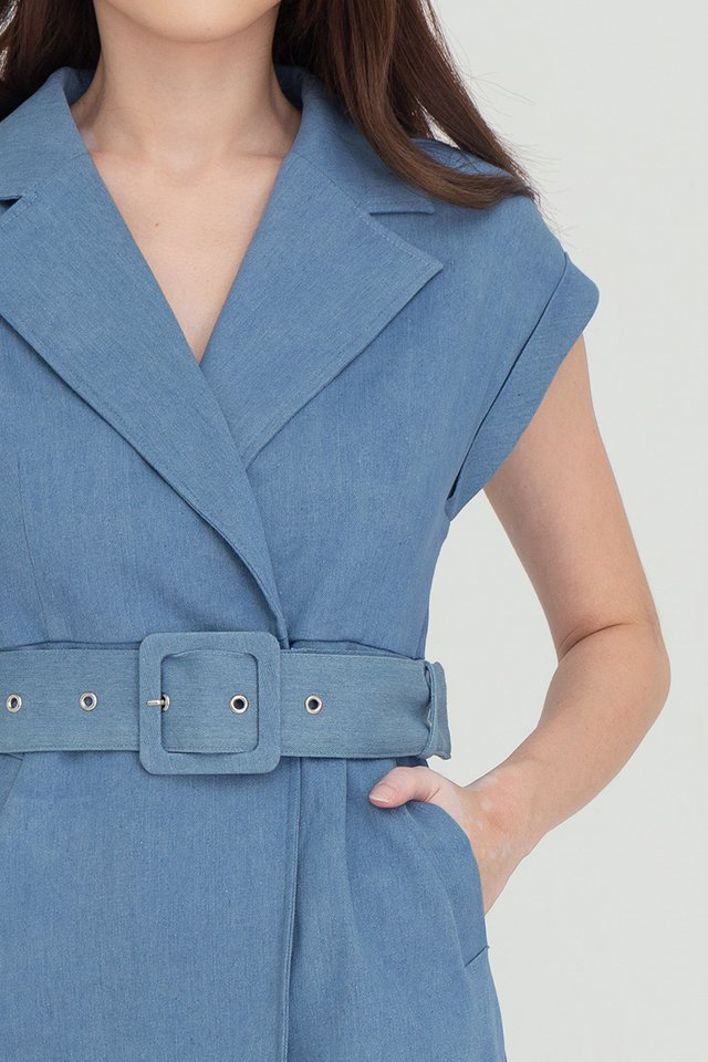 Tayonna Denim Dress (Light Blue)
