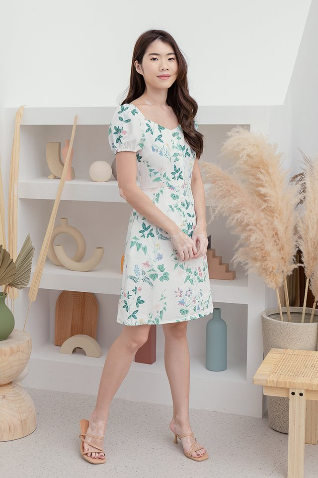 *IN STOCK* Lexie Floral Two-way Dress (White)