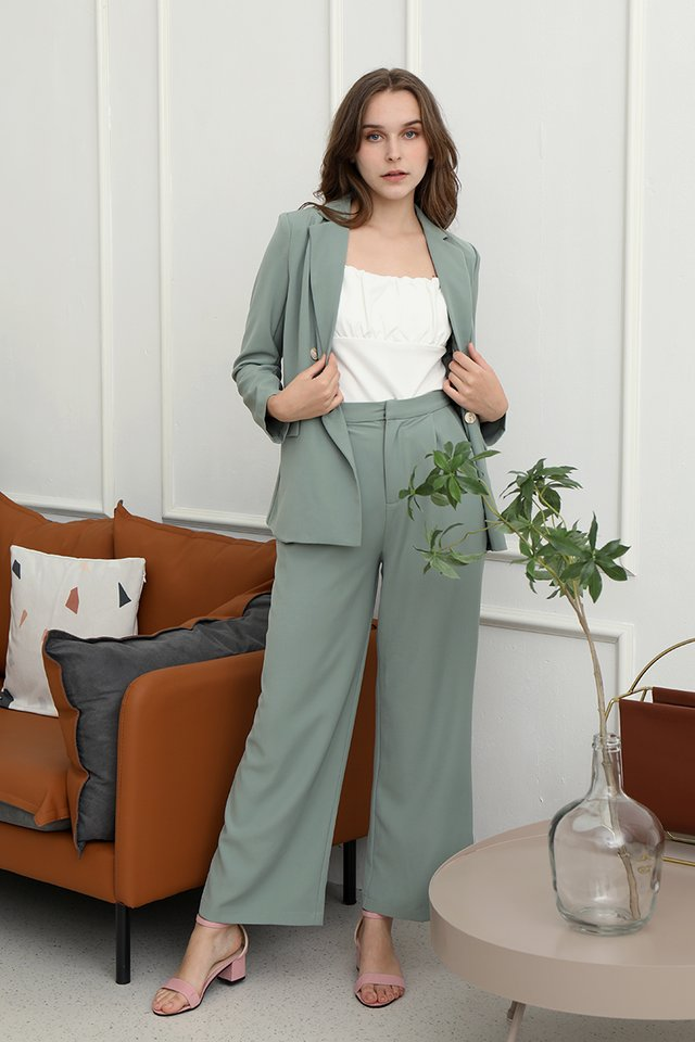 Laurent Relaxed Fit Blazer (Green)