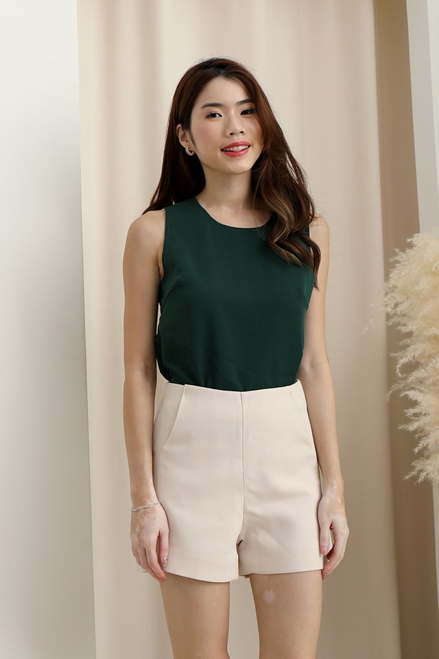 Landscape Reversible Top (White/Forest Green)
