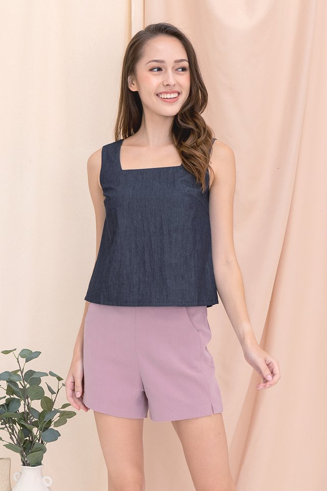 Vera Two-way Top (Dark Denim)