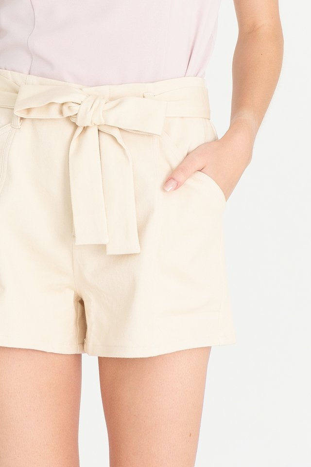 Keith Piping Shorts (Cream)
