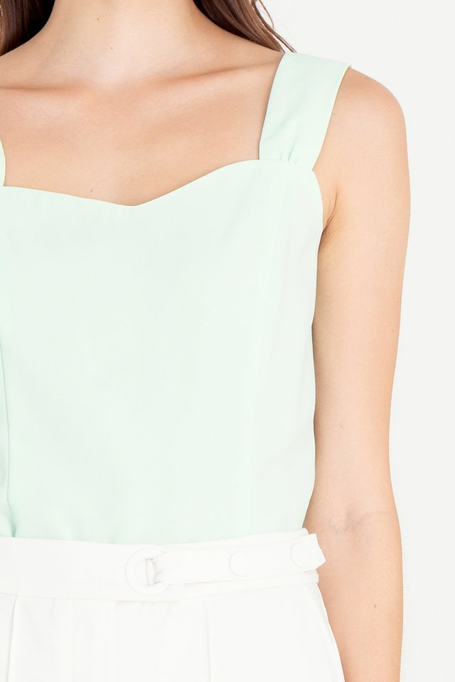 Troy Thick Straps Top (Green)