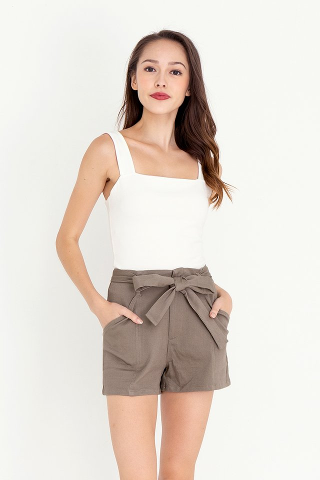 Keith Piping Shorts (Tan)
