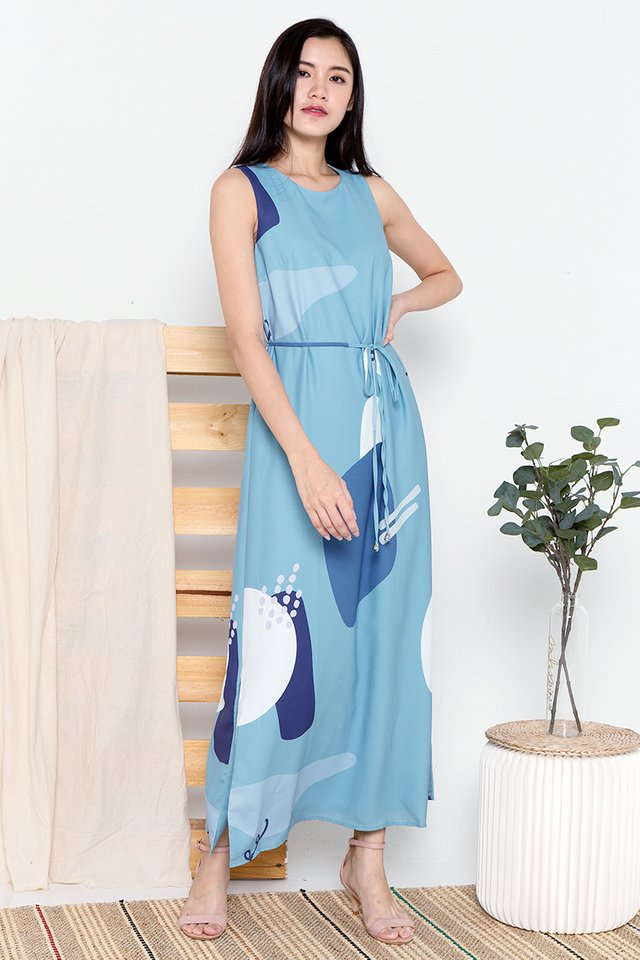 Dale Abstract Maxi Dress (Green)
