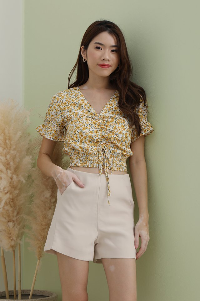Layla Floral Top (Yellow)